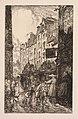 Auguste Louis Lepère - La Biévre, Les Gobelins, Saint-Séverin- Le Quartier Saint-Séverin- La Rue d - 2014.657 - Cleveland Museum of Art.jpg
