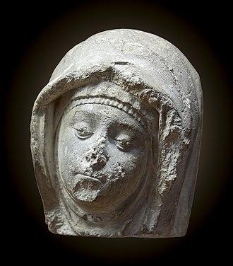 Grandselve Abbey - Female head, Grandselve Abbey, Musée des Augustins