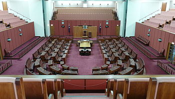English: Senate, Parliament House, Canberra
