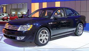 Ford Taurus (sixth generation) - Pre-production 2008 Ford Five Hundred (on display at 2007 Detroit Auto Show), shown before renaming to 2008 Ford Taurus
