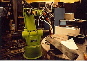 Automatix - SeamTracker vision-guided arc welding robot under development.