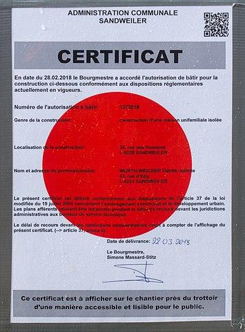 File Autorisation De Batir Rue Des Romains Sandweiler 101 Jpg Wikimedia Commons