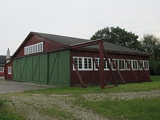 Avedøre Airfield - The northern of the two hangars from 1917