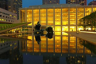 Julius Baker - Avery Fisher Hall with Henry Moore sculpture