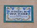Avinguda de Joan Fuster de Dénia, placa.JPG