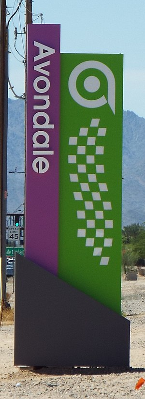 Avondale, Arizona - Entrance to the town of Avondale