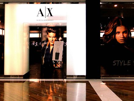 Armani Exchange store at Marina Bay Sands, Singapore Axsg.jpg