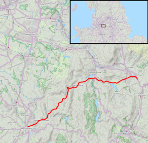 B5470 road - Route map (click to enlarge)