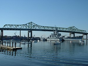 USS Massachusetts (BB-59) - Massachusetts at Battleship Cove