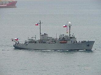 USNS Thomas Washington (T-AGOR-10) - Image: BUQUE OCEANOGRAFICO VIDAL GORMAZ AGOR 60