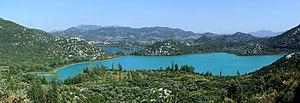 Baćina lakes - Panorama of Baćina lakes