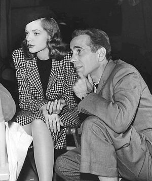 The Big Sleep (1946 film) - Bogart and Bacall on the set during filming