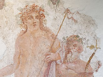 Red hair - A Roman fresco depicting Bacchus with red hair, Boscoreale, c. 30 BC
