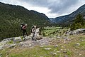Backpackers above the river in Black Canyon of the Yellowstone (28585147478).jpg