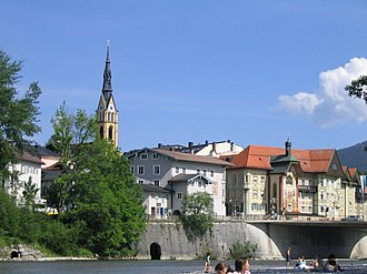 Bad Tölz - Bad Tölz seen from River Isar
