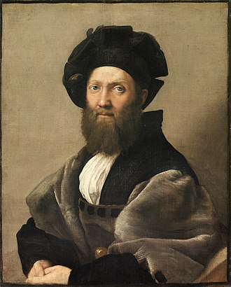 Self-Portrait with Beret and Turned-Up Collar - Raphael, Portrait of Baldassare Castiglione