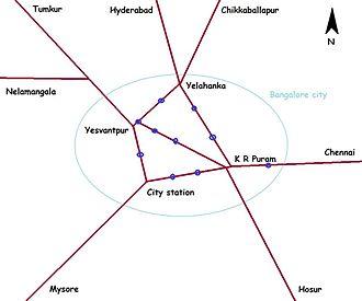 Bangalore City railway station - Bangalore city railway station shown on map