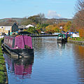 Barges in the Leeds and Liverpool Canal, Bingley (6th November 2010).jpg