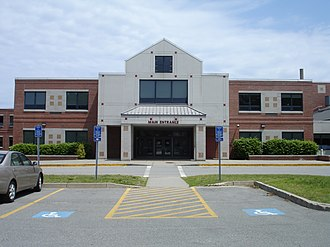 Barnstable High School - Image: Barnstable High School entrance