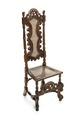 Barockstol, svarvad och snidad med sits och rygg av rottingflätning, 1700 cirka - Hallwylska museet - 108426.tif