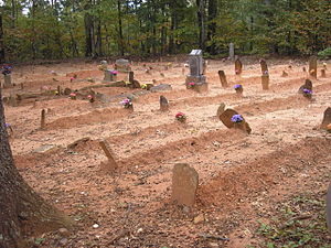 National Register of Historic Places listings in Douglas County, Georgia - Image: Basket Creek Cemetery Black Section