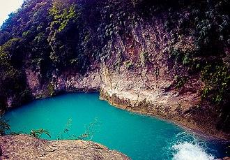 Bassin Bleu (Jacmel) - One of the pools of Bassin Bleu, May 2013
