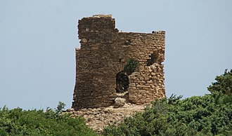 """El Kala - Ruins from Bastion de France. A popularly frequented beach adjacent to the ruins of the bastion is named """"La Vielle Calle."""""""