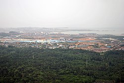 An aerial view of Batam