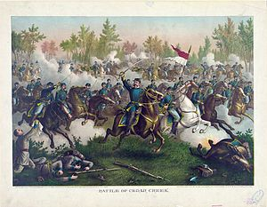 Battle of Cedar Creek - Battle of Cedar Creek, by Kurz & Allison (1890)