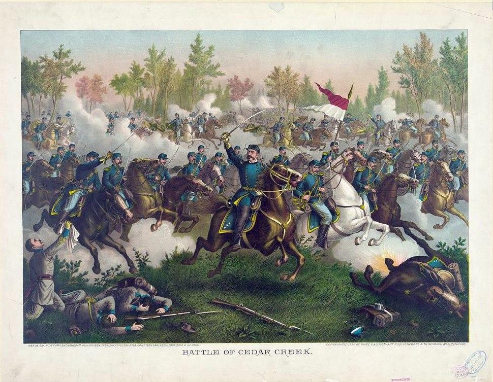 Battle of Cedar Creek by Kurz & Allison