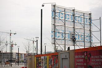 Sandwich panel - Construction site panel made of Dibond