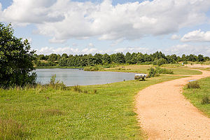 Lakeside Country Park - Image: Beach Lake, Lakeside Country Park, Eastleigh