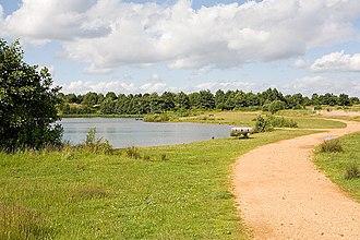 Lakeside Country Park - Image: Beach Lake, Lakeside Country Park, Eastleigh