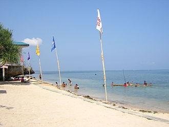 Bolinao, Pangasinan - Image: Beach at Rock Garden Resort, Bolinao, Pangasinan