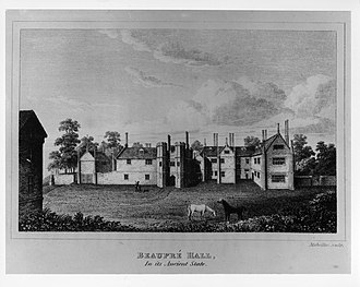 Philip Bell (governor) - Beaupré Hall, Outwell, Norfolk, family home of the Bell's