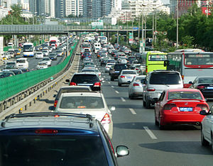 English: Traffic jam in Beijing