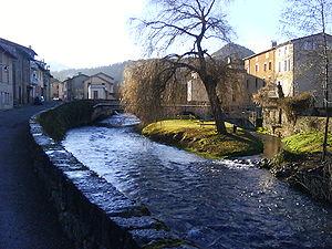Bélesta, Ariège - The bridge over the Hers-Vif