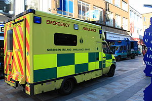 Northern Ireland Ambulance Service - Ambulance in Ann Street, Belfast, October 2009