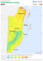 Belize DNI Solar-resource-map lang-ES GlobalSolarAtlas World-Bank-Esmap-Solargis.png