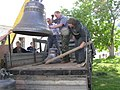 Bells for church of Alexander Nevsky arrived to Yuriev Monastery.jpg