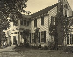 Gari Melchers Home - Belmont, west front, by Frances Benjamin Johnston, between 1925 and 1929