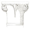 Belmont Abbey Chapter House Capital 2 Camille Enlart 1921.png