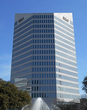 Belo - The Belo Tower in Downtown Dallas.