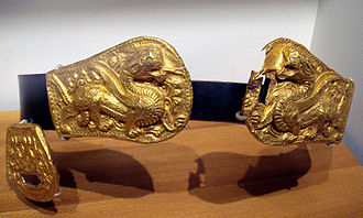 Xianbei - Xianbei belt buckles, 3-4th century AD