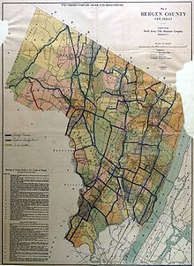 Bergen County New Jersey Wikipedia - Map of bergen county nj