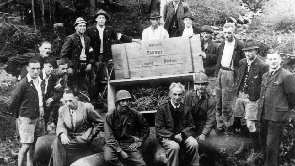 Bergungsort Salzbergwerk Altaussee, 1945