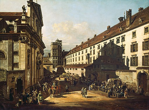 Bernardo Bellotto, called Canaletto - Vienna, Dominican Church - Google Art Project