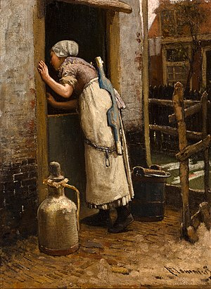 Bernard Blommers - Image: Bernardus Johannes Blommers The milk maid