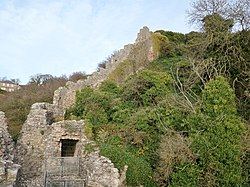 Berwick Castle 'Breakneck Path' and wall, Berwick-upon-Tweed, Northumbria.jpg