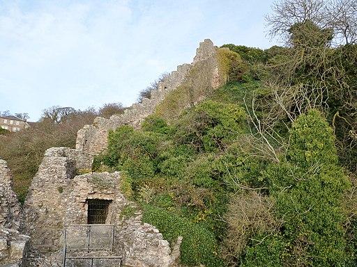 Berwick Castle 'Breakneck Path' and wall, Berwick-upon-Tweed, Northumbria